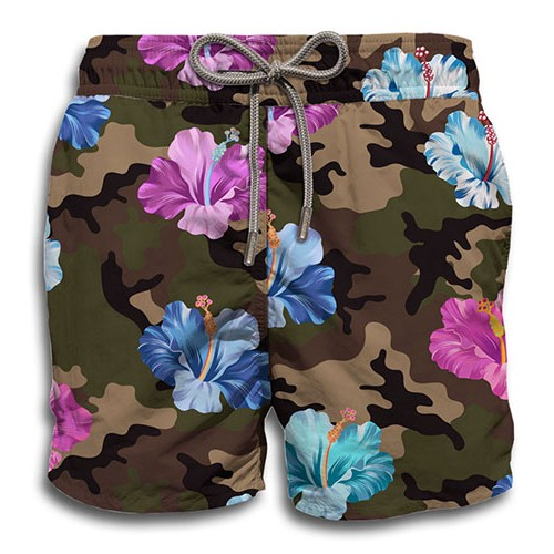 agoon-embourg-st barth mc2-maillots hommes-flower camo