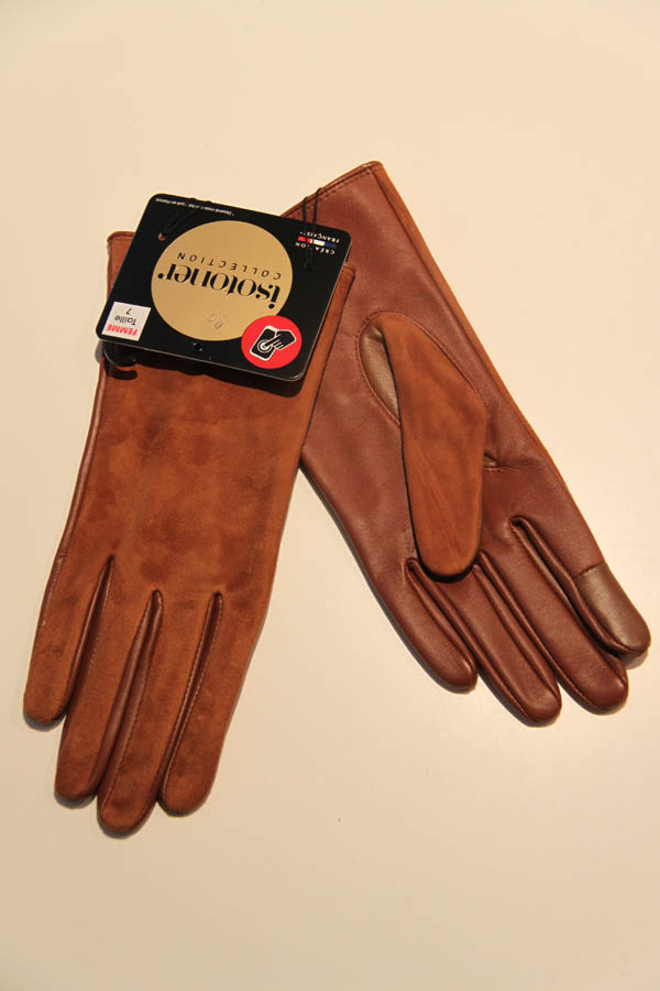 lagoon-embourg-isotoner-gants cuir cognac-phone touch