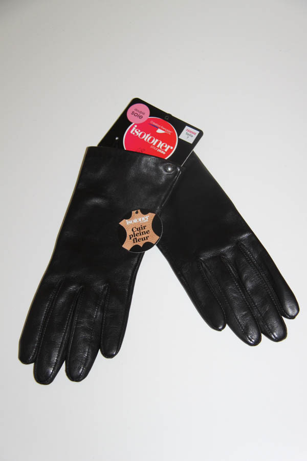 lagoon-embourg-isotoner-gants noirs cuirs